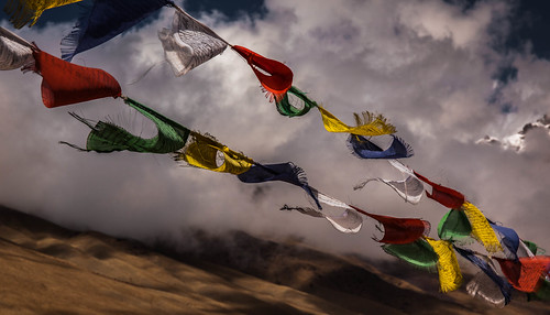 india wind prayer flags ladakh