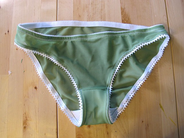 Green and White Watson Bra