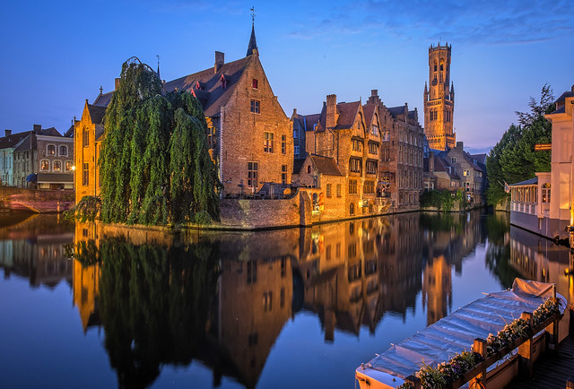 Bruges Belfry in the Evening