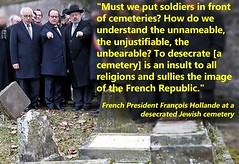 FRENCH PRESIDENT LASHES OUT AT ANTI-SEMITIC ATTACKERS