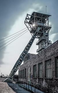 Dortmund, Industriemuseum Zeche Zollern- Fördergerüst 1