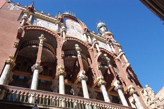 西班牙 巴塞隆納 加泰隆尼亞音樂廳 Palau de la Música Catalana Barcelona Spain