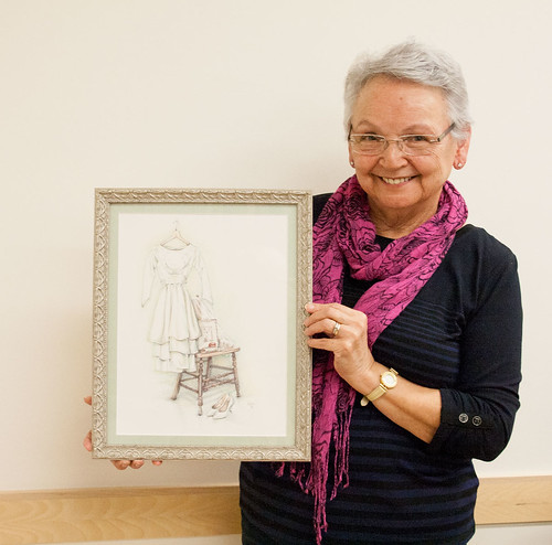 Vera with her framed drawing
