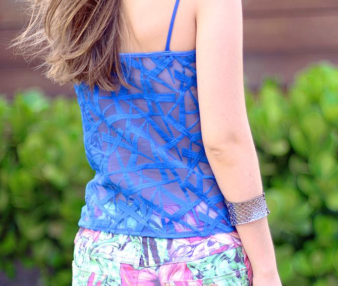 08-saia jeans colorida estampada e blusa azul naguchi verão blog sempre glamour