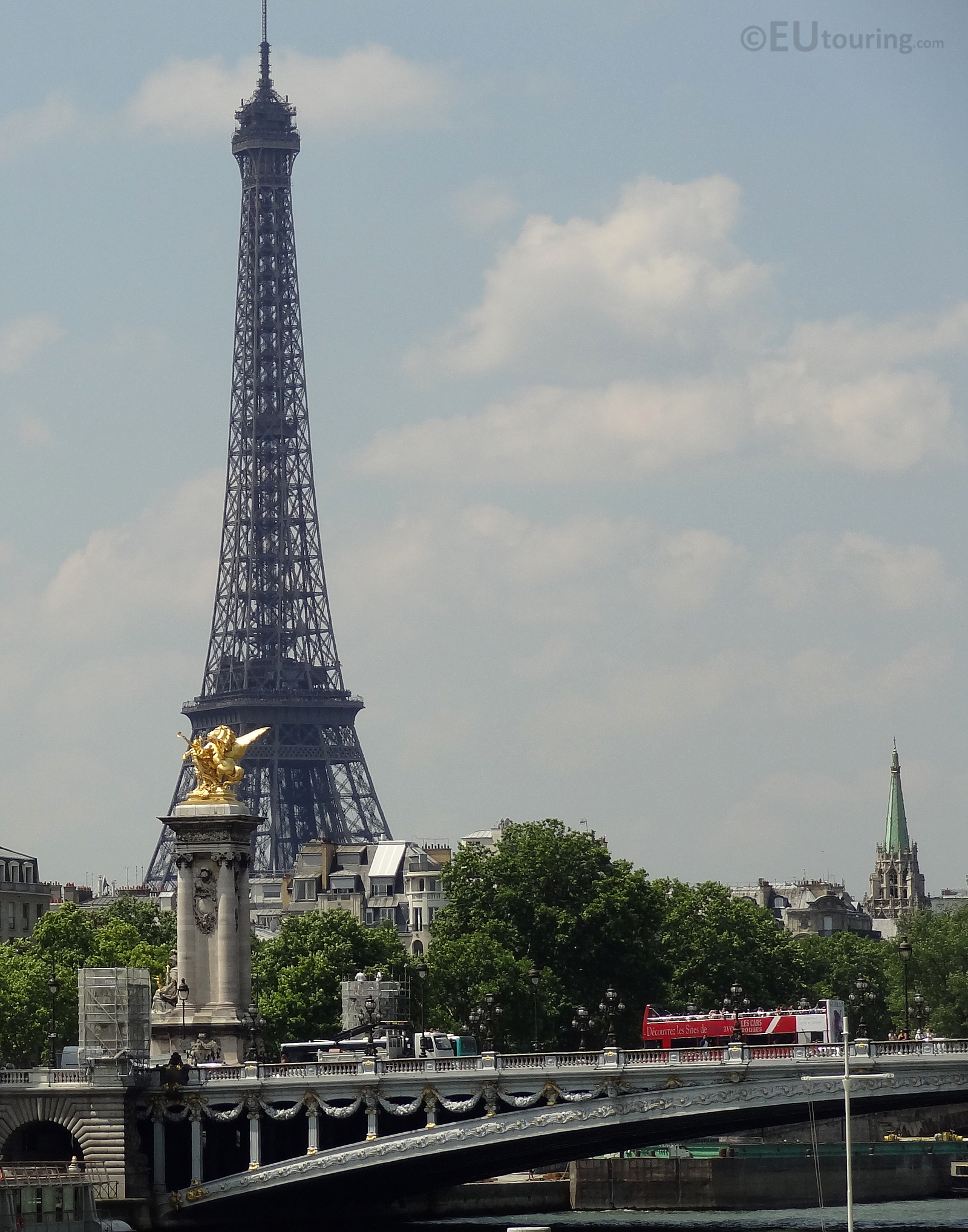 Eiffel, Pont Alexandre III and tour bus