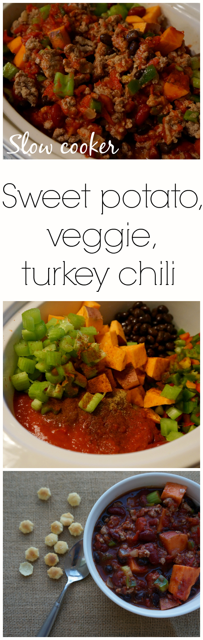 Healthy Sweet Potato Turkey and Vegetable Slow Cooker Chili
