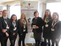 With members of the Dunbar Grammar team before the final of the Real Business Challenge enterprise competition