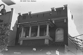 Medusa building, Wollongong (1946 expired Kodak Fluorographic 35mm film)