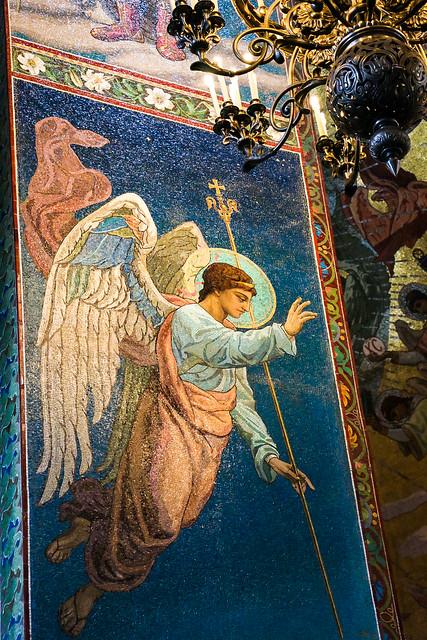 Archangel Gabriel in Church of the Savior on Blood, Saint Petersburg, Russia サンクトペテルブルク、血の上の救世主教会の大天使ガブリエル