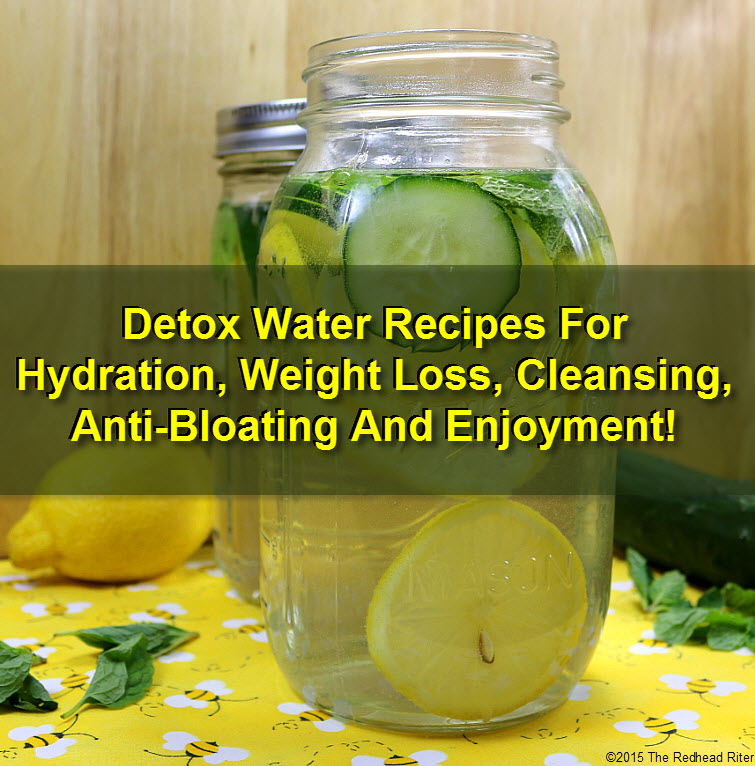Detox Water Recipes For Hydration, Weight Loss, Cleansing, Anti-Bloating And Enjoyment tw