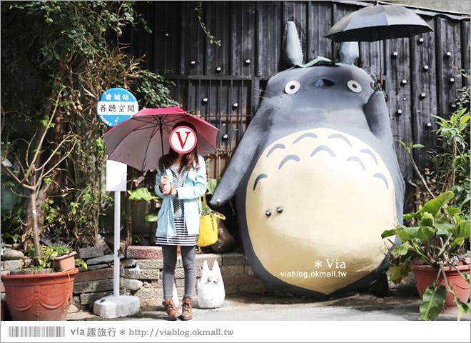 【大里龍貓】台中大里龍貓公車站《喬城站》~可愛的立體龍貓超吸睛!拍照去~12