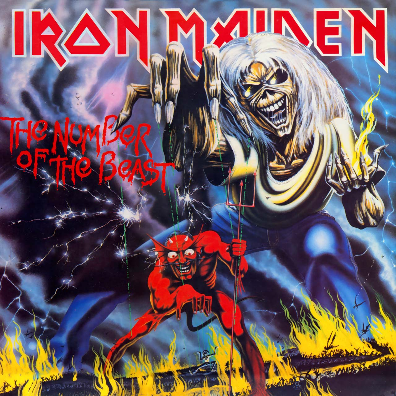 Cover Iron Maiden, The Number of the Beast, 1982