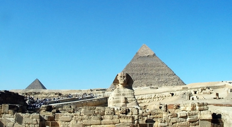 Pyramids and the Sphinx