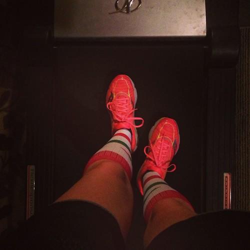 Winter treadmill miles
