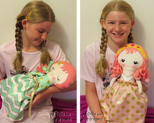 Topsy Turvy Cloth Doll Sewing Pattern