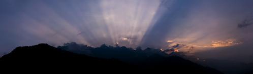 sunset mountains himalayas himachalpradesh