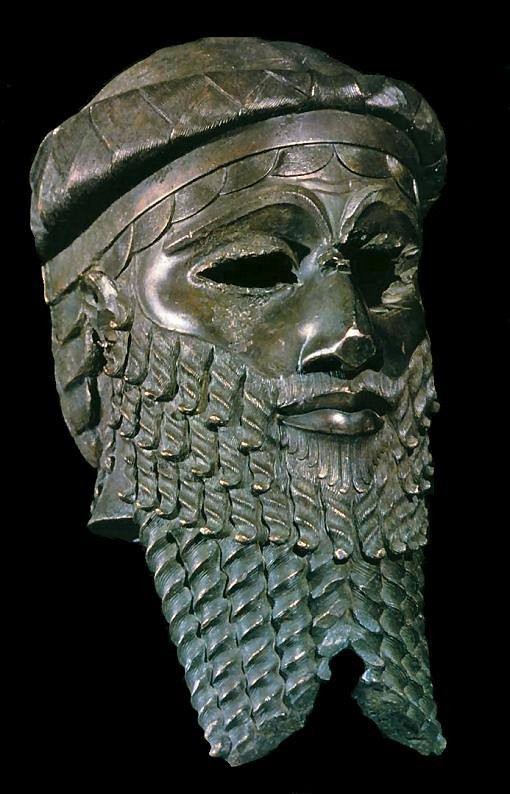 Bronze head of an Akkadian ruler, probably Sargon
