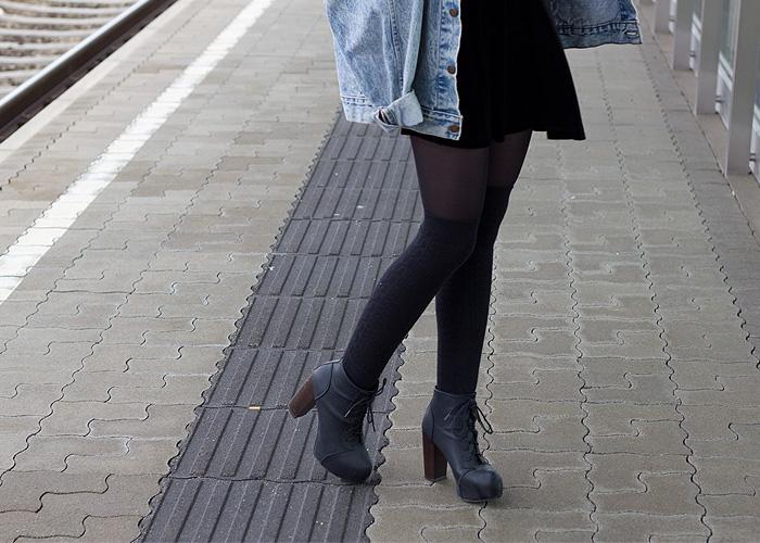 Vintage Levis Jeans Jacket Brandy Melville Miss Blue Eyes Grunge