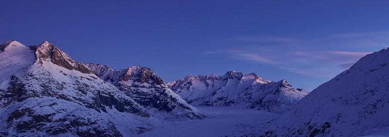 Dawn at Aletsch Glacier - Riederalp