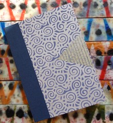 Triple blue almost blank book, cover