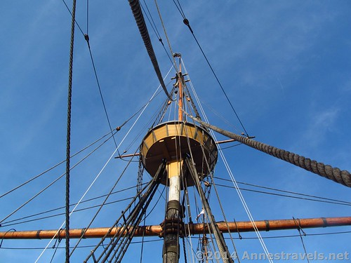 Mayflower II rigging, Plymouth, MA