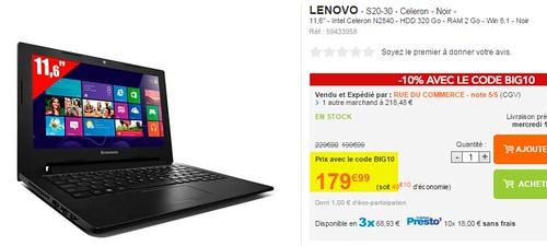 2014-12-05 20_01_04-Lenovo - S20-30 - Celeron - Noir - pas cher Achat_Vente Ordinateur Portable Gran