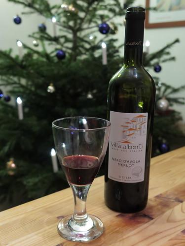 Rotwein zu Silvester (Villa Alberti – Nero d'Avola / Merlot – Sizilien)