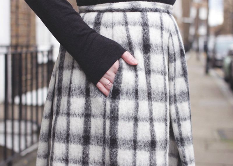 Checked Tweed Midi Skirt, Bumpkin Betty
