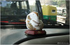 Ganesha on the dashboard of a Delhi taxi