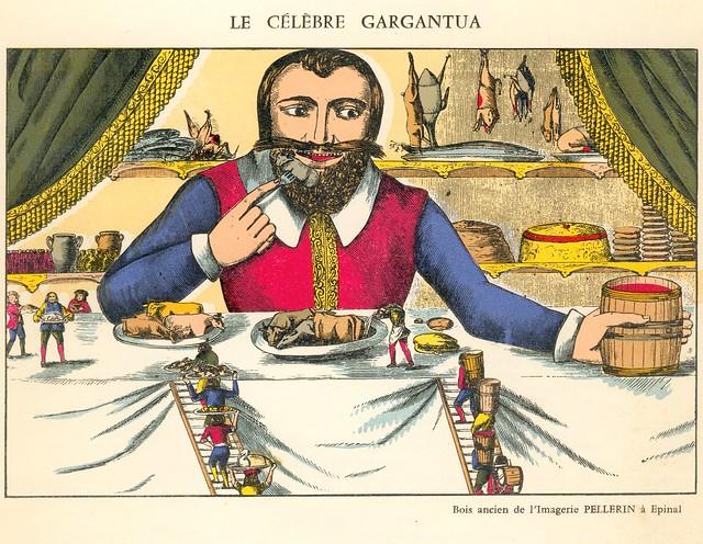 Le Célèbre Gargantua, Imagerie Pellerin d'Epinal