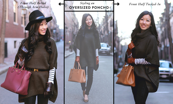 how to style sweater poncho graphic
