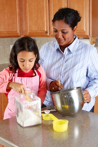 Having your children help in the kitchen is a good way to get your child to try new foods. Children are much less likely to reject foods that they helped make.