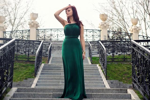 green maxi dress6