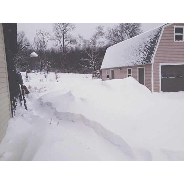 Hey, what's another foot of snow after the last 2-feet? #nobigdeal #207gram #maine