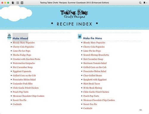 Tasting Table Chefs' Recipes: Summer Cookbook 2012