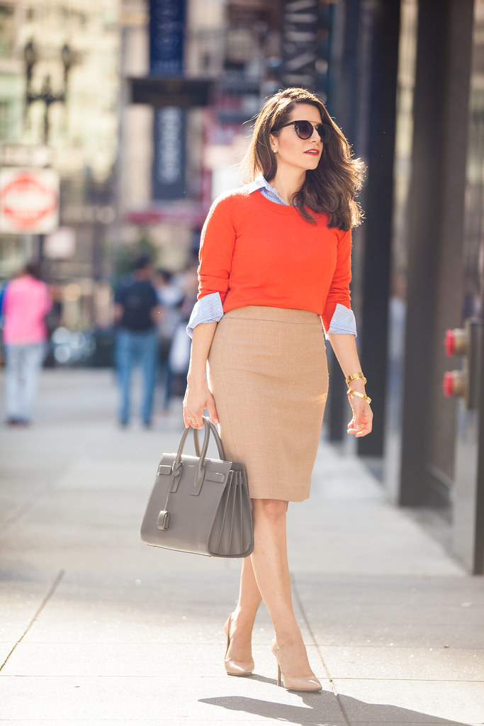 what to wear to work jcrew pencil skirt nude skirt nude heels dvf bethany heel saint laurent sac de jour grey bag work wear professional blogger corporate blogger corporate catwalk jcrew sweater layering for spring spring work outfits urban outfitters