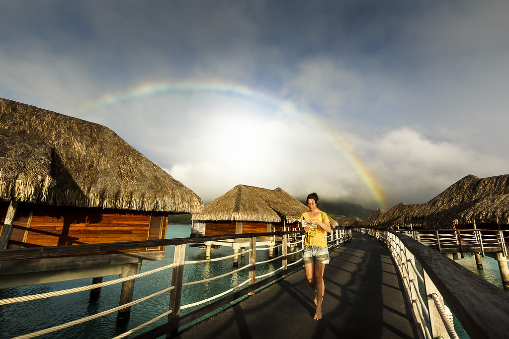 Rainbow Morning in Bora Bora
