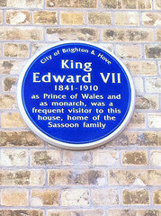 Photo of Edward VII, Arthur Abraham David Sassoon, and Louise Sassoon blue plaque