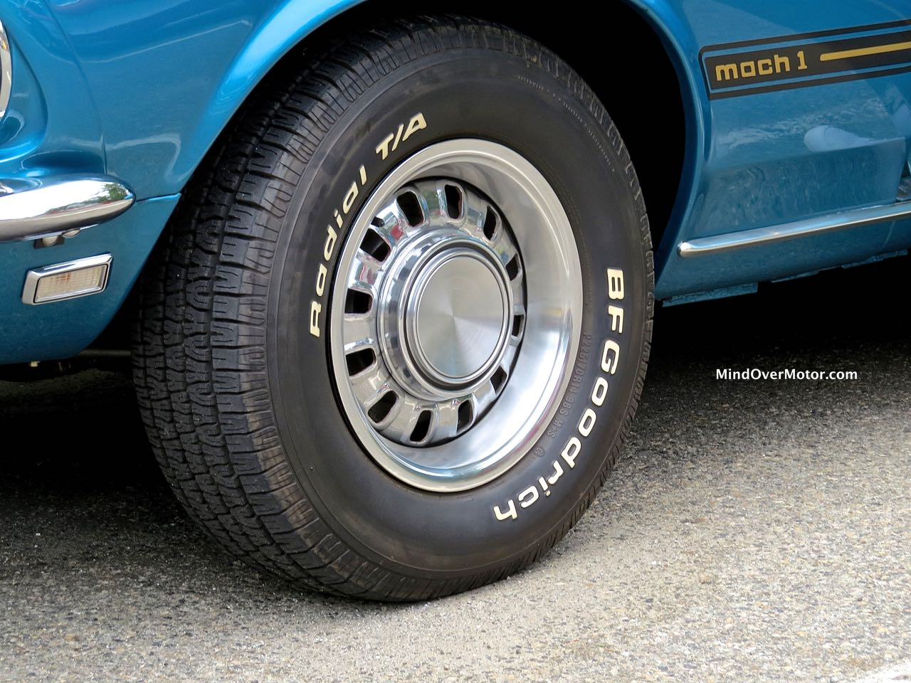 1969 Mustang Mach 1 Rim and Badge