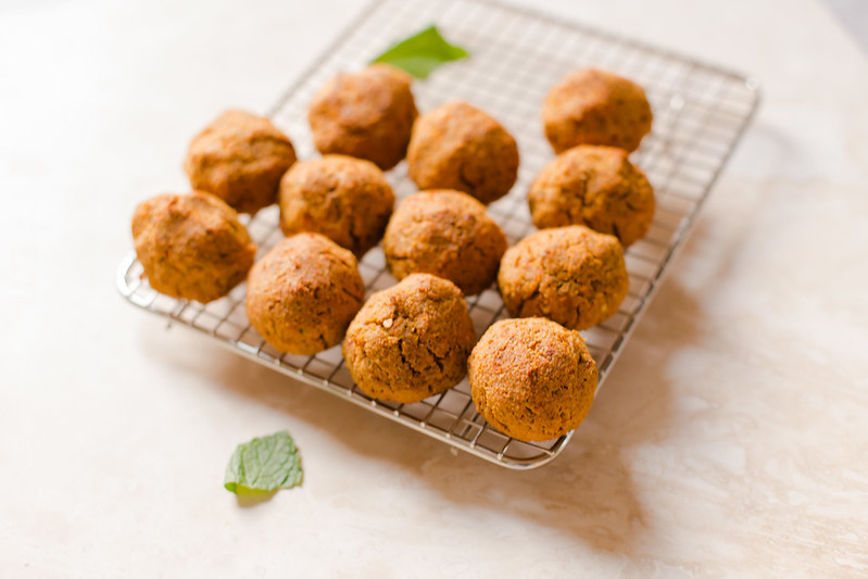 Ground Almond and Mint Falafel