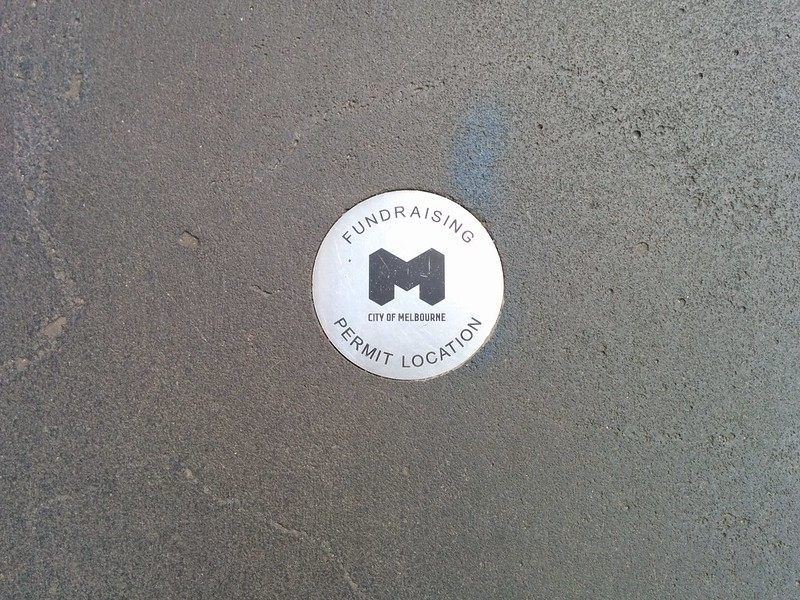 City of Melbourne: Chugger/fundraising location marker