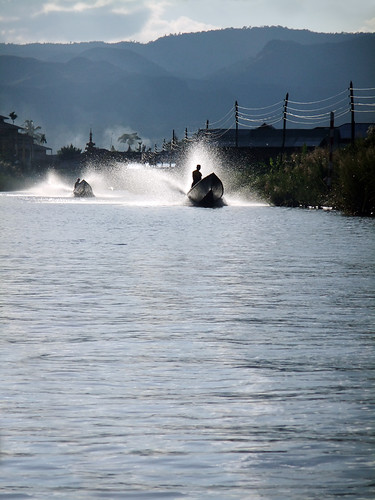 Returning from Our Boat Tour on Inle Lake