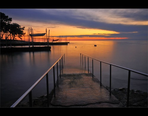 longexposure light sunset sea summer sky sun lighthouse beach water clouds port reflections landscape evening pier boat seaside dusk jetty illumination croatia filter le nd hdr hrvatska