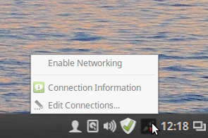 New Annyoing Cinnamon Network Manager System Tray Icon