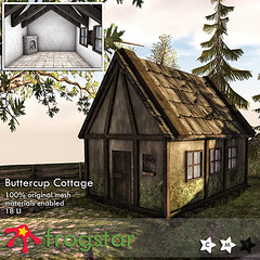 Frogstar - Buttercup Cottage Poster