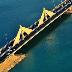 #shaikh #isa #causeway #bahrain #picture taken from a #chopper #helicopter
