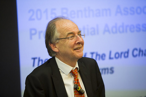 Lord Falconer, 2014-5 President of the Bentham Association