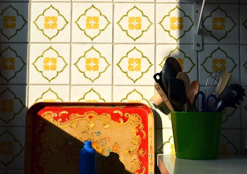 sol en la cocina