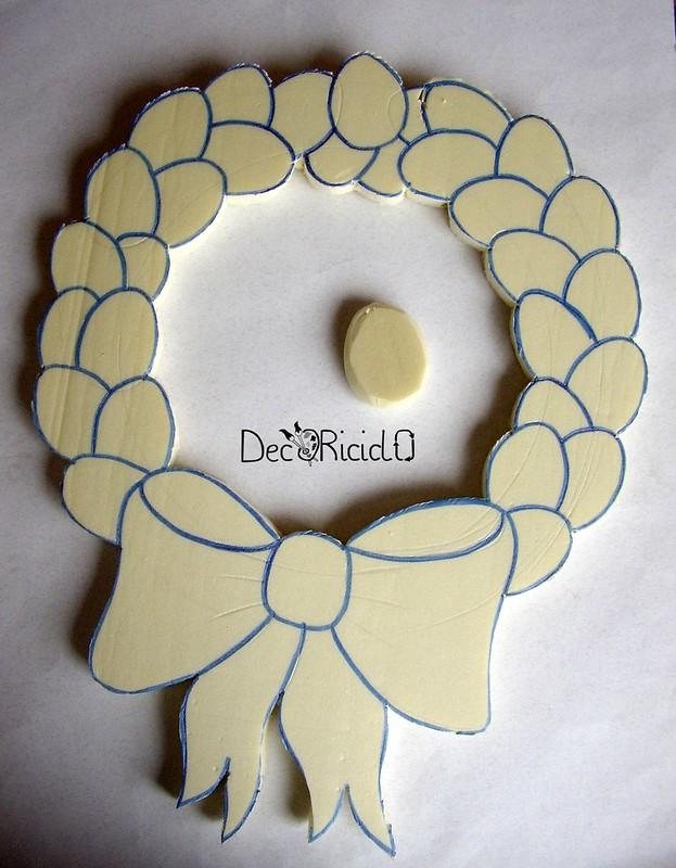 ghirlanda di uova, patchwork senza ago 4