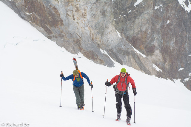 Firm conditions on the Diavolo Glacier